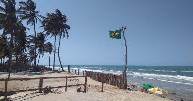 Plaża Canto Verde w Beberibe nad Oceanem Atlantyckim