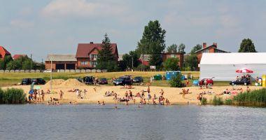 Plaża nad Zalewem w Czarnocinie