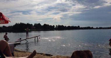 Plaża w Budzyniu nad Zalewem Budzyńskim