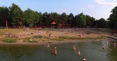 Plaża w Skępe nad Jeziorem Łąkie