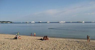 Juan les Pins Main Beach, Juan-les-Pins, Antibes, Francja
