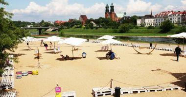 Plaża Miejska Chwaliszewo w Poznaniu przy starym korycie Warty