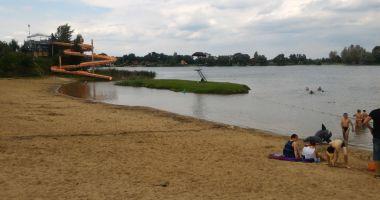 Plaża w Januszkowicach nad Jeziorem Srebrnym