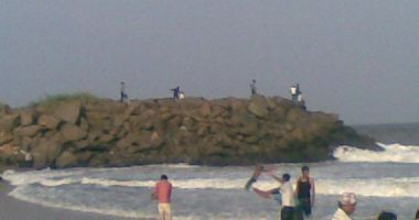 Wide Beach, Mahabalipuram, Indie
