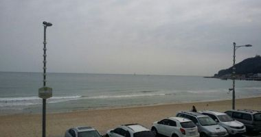 Songjeong Beach, Busan, Korea Południowa