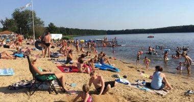 Plaża w Pamiątkowie nad Jeziorem Pamiątkowskim