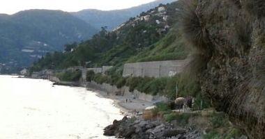 Le Calandre Beach, Ventimiglia, Włochy