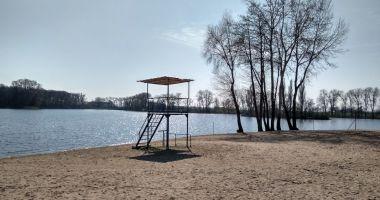 Plaża na Cyplu w Kruszwicy nad Jeziorem Gopło
