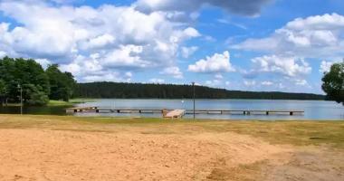 Plaża Miejska w Orzyszu nad Jeziorem Orzysz