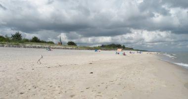 Plaża w Kuźnicy nad Morzem Bałtyckim