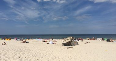 Plaża Osetnik-Stilo koło Sasina nad Morzem Bałtyckim
