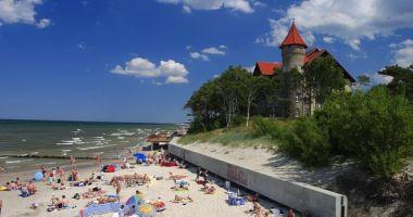 Plaża w Łebie nad Morzem Bałtyckim