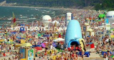 Plaża wschodnia w Ustce nad Morzem Bałtyckim