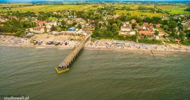 Plaża w Chłopach nad Morzem Bałtyckim