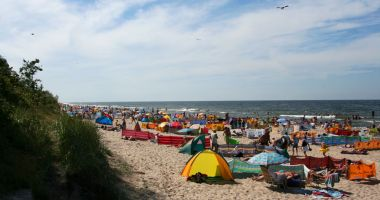 Plaża w Sarbinowie nad Morzem Bałtyckim