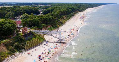 Plaża w Trzęsaczu nad Morzem Bałtyckim