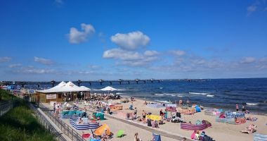 Plaża w Międzyzdrojach nad Morzem Bałtyckim
