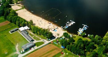 Plaża przy Ośrodku Sportów Wodnych MORiS Pszczyna nad Jeziorem Łąka