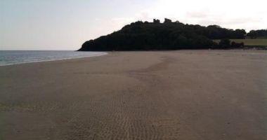 Plaża w Llansteffan nad Rzeką Tywi