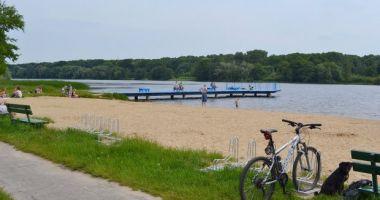 Plaża w Poznaniu nad Jeziorem Rusałka