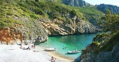 Cala Bianca Beach, Marina di Camerota, Camerota, Włochy