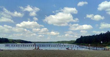 Plaża Polanka w Kamionkach Małych nad Jeziorem Kamionkowskim