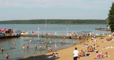 Plaża w Pieczyskach nad Jeziorem Koronowskim