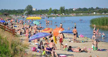 Plaża w Tarnobrzegu nad Jeziorem Tarnobrzeskim
