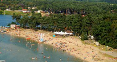 Plaża przy Ośrodku Rekreacji i Wypoczynku Nad Zalewem na Piaskach w Kryspinowie