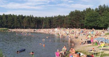Plaża w Jelczu-Laskowicach nad Stawem Pierwszym Jelczańskim