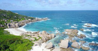 Plaża Anse Source D'Argent na Wyspie La Digue nad Oceanem Indyjskim