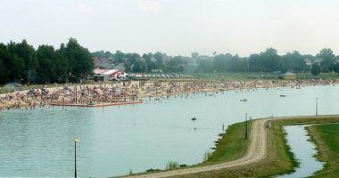 Plaża w Kałuszynie nad Zalewem Karczunek