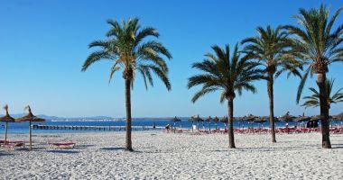 Plaża Alcudia w Port d'Alcúdia nad Morzem Śródziemnym