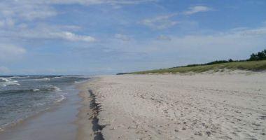 Plaża naturystów w Białogórze nad Morzem Bałtyckim