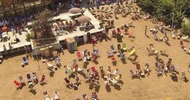 Plaża przy Forum Przestrzennym w Krakowie nad Wisłą