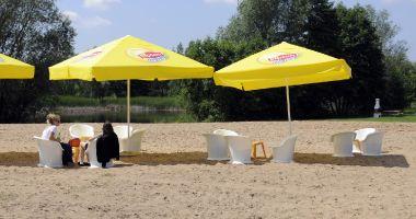 Plaża w Bydgoszczy nad Stawami w Myślęcinku