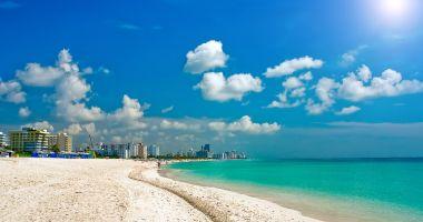 Plaża South Beach w Miami Beach nad Oceanem Atlantyckim