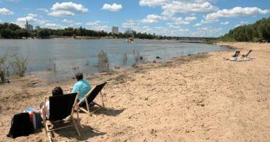 Plaża Miejska Saska Kępa w Warszawie nad Wisłą