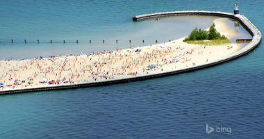 Plaża North Avenue w Chicago nad Jeziorem Michigan