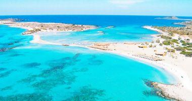 Plaża Elafonisi na Krecie nad Morzem Śródziemnym