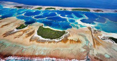 Plaże na Wyspie Caroline nad Oceanem Spokojnym
