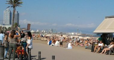 Barceloneta Beach, Barcelona, Hiszpania