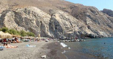 Perissa Beach, Perissa, Grecja