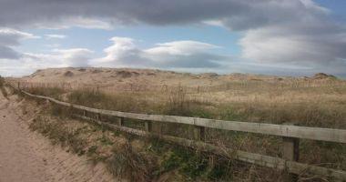 Plaża Crosby Beach, Crosby, Wielka Brytania