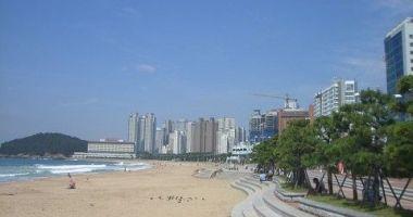 Haeundae Beach, Busan, Korea Południowa