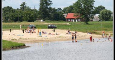Plaża nad Zalewem w Karpowiczach