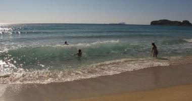 Plaża Falassarna na Krecie nad Morzem Śródziemnym