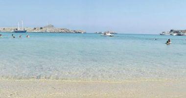 Lindos beach, Lindos, Grecja