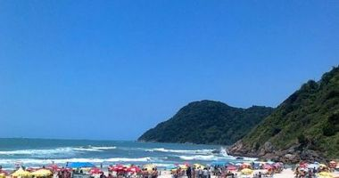 Tombo beach, Guaruja, Brazylia