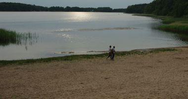 Plaża w Kuźnicy Zbąskiej nad Jeziorem Kuźnickim